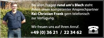 Beratung auf BLECHDACHS.de